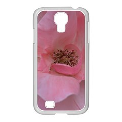Pink Rose Samsung GALAXY S4 I9500/ I9505 Case (White)