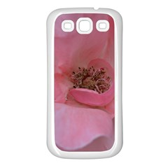 Pink Rose Samsung Galaxy S3 Back Case (White)