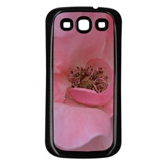 Pink Rose Samsung Galaxy S3 Back Case (black) by timelessartoncanvas