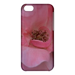 Pink Rose Apple Iphone 5c Hardshell Case by timelessartoncanvas