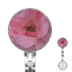 Pink Rose Stainless Steel Nurses Watches