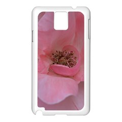 Pink Rose Samsung Galaxy Note 3 N9005 Case (white) by timelessartoncanvas