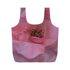 Pink Rose Full Print Recycle Bags (m)  by timelessartoncanvas