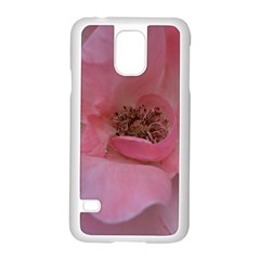 Pink Rose Samsung Galaxy S5 Case (white) by timelessartoncanvas