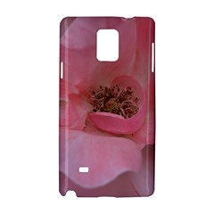 Pink Rose Samsung Galaxy Note 4 Hardshell Case by timelessartoncanvas