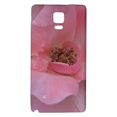 Pink Rose Galaxy Note 4 Back Case by timelessartoncanvas