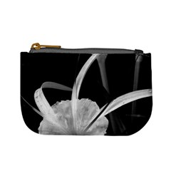 Exotic Black And White Flowers Mini Coin Purses by timelessartoncanvas