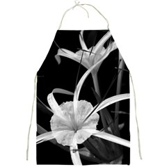 Exotic Black And White Flowers Full Print Aprons