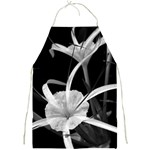 Exotic Black and White Flowers Full Print Aprons Front