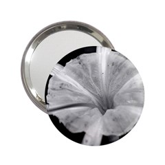 Exotic Black And White Flower 2 2 25  Handbag Mirrors by timelessartoncanvas
