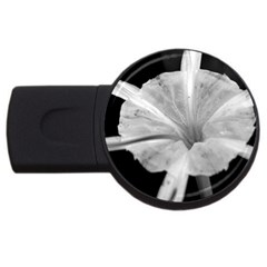 Exotic Black And White Flower 2 Usb Flash Drive Round (4 Gb)