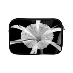 Exotic Black And White Flower 2 Apple Ipad Mini Zipper Cases by timelessartoncanvas