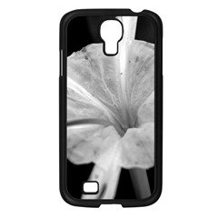 Exotic Black And White Flower 2 Samsung Galaxy S4 I9500/ I9505 Case (black) by timelessartoncanvas