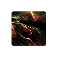 Glowing, Colorful  Abstract Lines Square Magnet by FantasyWorld7