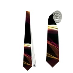 Glowing, Colorful  Abstract Lines Neckties (two Side)  by FantasyWorld7