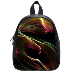 Glowing, Colorful  Abstract Lines School Bags (small)
