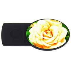 Orange Yellow Rose Usb Flash Drive Oval (4 Gb)  by timelessartoncanvas