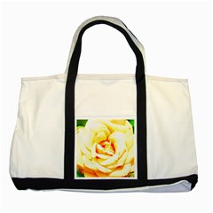 Orange Yellow Rose Two Tone Tote Bag  by timelessartoncanvas