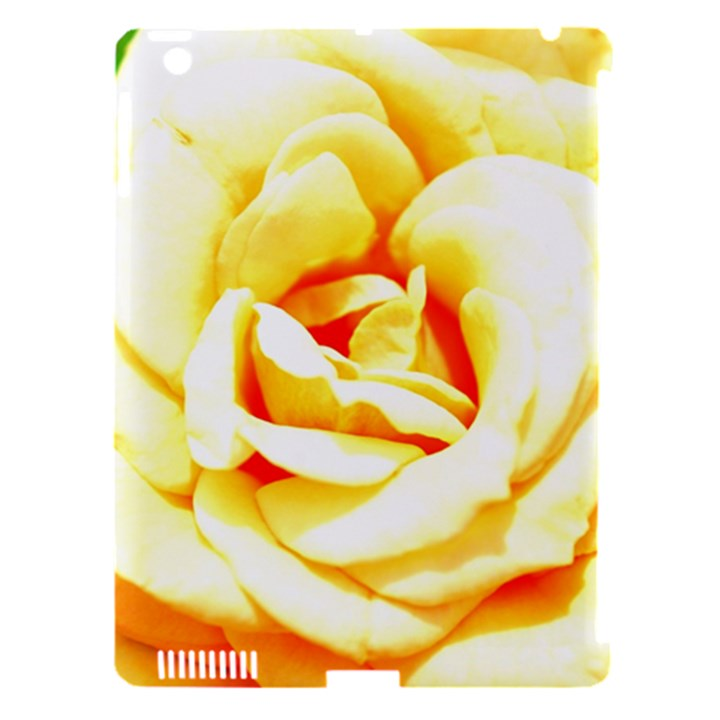 Orange Yellow Rose Apple iPad 3/4 Hardshell Case (Compatible with Smart Cover)
