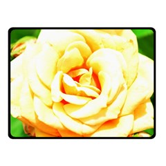 Orange Yellow Rose Double Sided Fleece Blanket (small)  by timelessartoncanvas