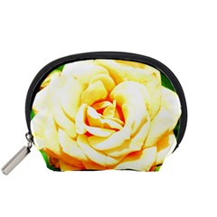 Orange Yellow Rose Accessory Pouches (small)  by timelessartoncanvas