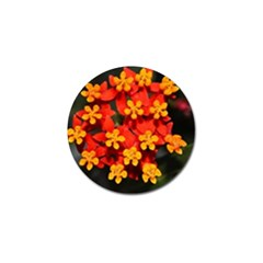Orange And Red Weed Golf Ball Marker by timelessartoncanvas