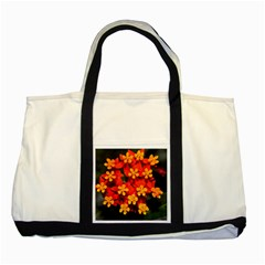 Orange And Red Weed Two Tone Tote Bag  by timelessartoncanvas
