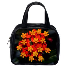 Orange And Red Weed Classic Handbags (one Side) by timelessartoncanvas