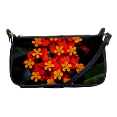 Orange And Red Weed Shoulder Clutch Bags by timelessartoncanvas