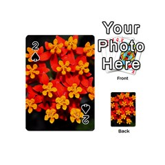 Orange And Red Weed Playing Cards 54 (mini)  by timelessartoncanvas