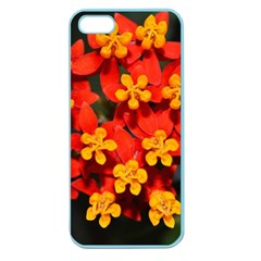 Orange And Red Weed Apple Seamless Iphone 5 Case (color) by timelessartoncanvas