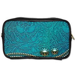 Wonderful Decorative Design With Floral Elements Toiletries Bags 2 Side by FantasyWorld7
