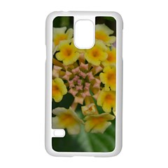 Colorful Flowers Samsung Galaxy S5 Case (white) by timelessartoncanvas