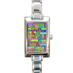 House 001 Rectangle Italian Charm Watches