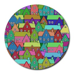 House 001 Round Mousepads