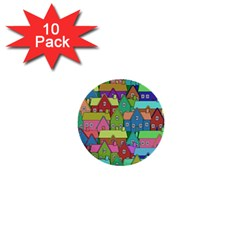 House 001 1  Mini Buttons (10 pack)