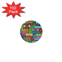 House 001 1  Mini Buttons (100 pack)