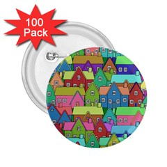 House 001 2.25  Buttons (100 pack)