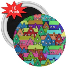 House 001 3  Magnets (10 pack)