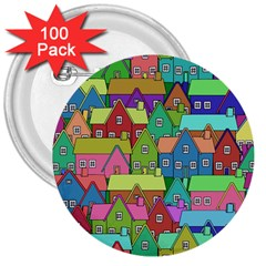 House 001 3  Buttons (100 pack)