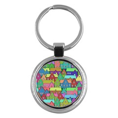House 001 Key Chains (Round)