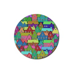 House 001 Rubber Coaster (Round)