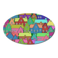 House 001 Oval Magnet