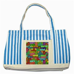 House 001 Striped Blue Tote Bag