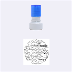 House 001 Rubber Round Stamps (Small)