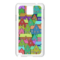 House 001 Samsung Galaxy Note 3 N9005 Case (White)