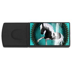 Beautiful Horse With Water Splash  Usb Flash Drive Rectangular (4 Gb)  by FantasyWorld7