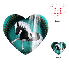 Beautiful Horse With Water Splash  Playing Cards (heart)  by FantasyWorld7