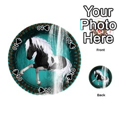 Beautiful Horse With Water Splash  Playing Cards 54 (round)