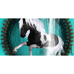 Beautiful Horse With Water Splash  You Are Invited 3d Greeting Card (8x4)  by FantasyWorld7